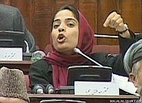 Malalai Joya speaking in the Afghan Parliament, Apr. 17, 2006. Credit: malalaijoya.com