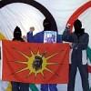 Native Warriors protest the 2010 Vancouver olympics.  Credit: no2010.com