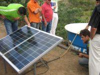 Solar-powered irrigation pump.  Credit: Mario Osava