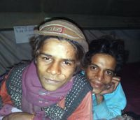 Alok (left) and Saddam (right) at the shelter in Delhi. Credit: Ranjit Devraj/IPS