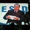 Prime Ministerial candidate Silvio Berlusconi addressing a rally in Rome. Credit: Sabina Zaccaro