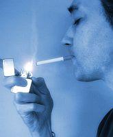Man lighting a cigarette Credit: Hendrike