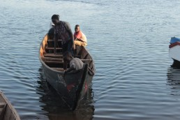 Fishermen on the Ugandan side of Lake Victoria. Uganda has ventured into non-traditional methods of fishing on the lake with a few of companies using cage fishing. Credit: Wambi Michael/IPS
