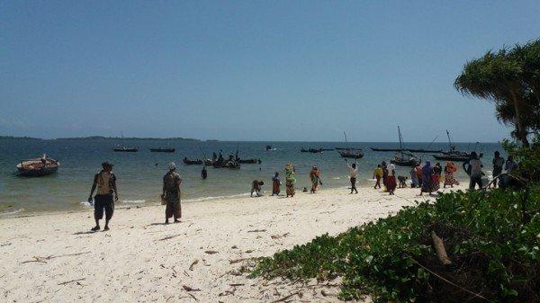 Am Strand von Gazi im Kwale County warten viele Menschen auf den Fang der Fischerboote. (Bild: Diana Wanyoni/IPS)
