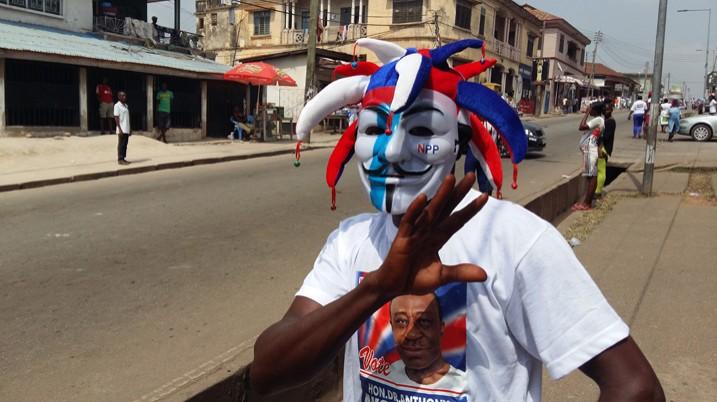 Ein Anhänger von Wahlsieger Nana Akufo-Addo in Kumasi (Bild: Kwaku Botwe/IPS)