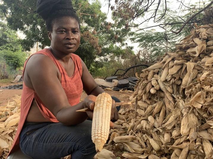 Adwoa Frimpomaah befürchtet, dass ihre Familie regelmäßig mit Aflatoxinen verunreinigte Nahrungsmittel zu sich nimmt (Bild: Albert Oppong-Ansah/IPS).