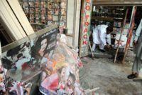 A music shop in Peshawar being restored after a Taliban attack last month. / Credit:Ashfaq Yusufzai/IPS.
