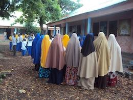 Girls at most schools in Somalia are ordered to wear an Islamic dress.  - Shafi'i Mohyaddin Abokar/IPS.
