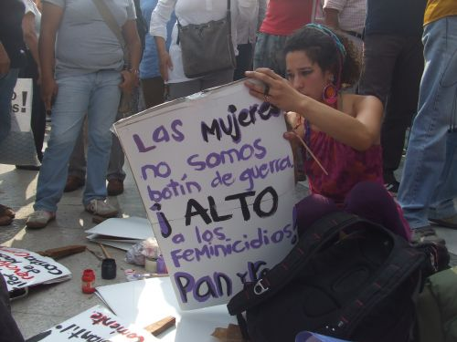 "Mexican women say ""We are not spoils of war"". - Daniela Pastrana/IPS"