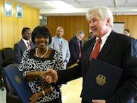 Namibia Finance Minister, Saara Kuugong Credit: Brigitte Weidlich/IPS / Credit:Brigitte Weidlich