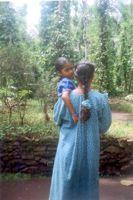Single mother Leela with her daughter. - K.S.Harikrishnan/IPS.